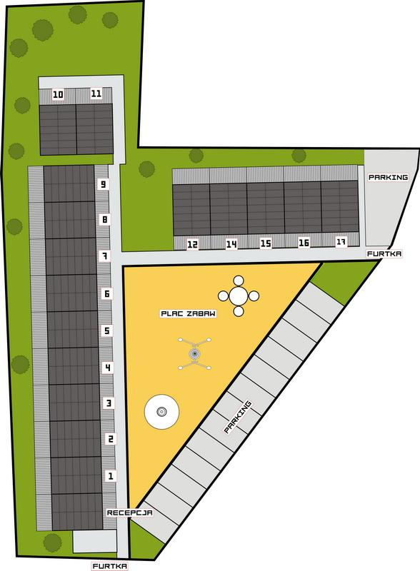 plan rozmieszczenia domków nad morzem